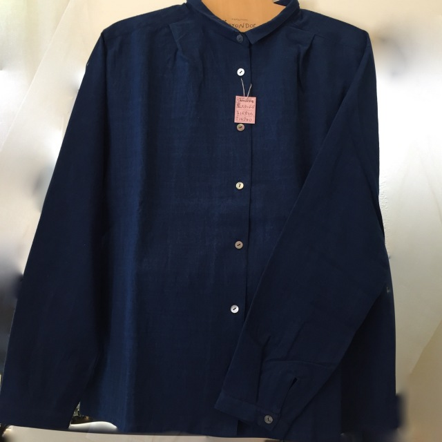 藍スタンダードシャツ