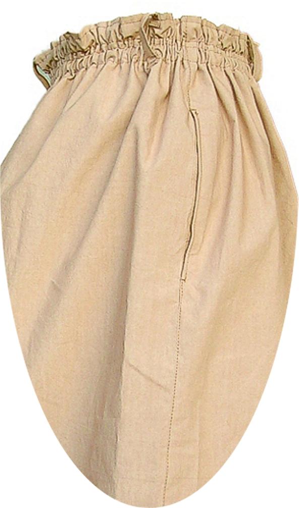 トロンスカート アップ画像「ポケット口」